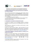 PROTOCOL D' ACTUACIO<BR> EN CAS D'ACCIDENT